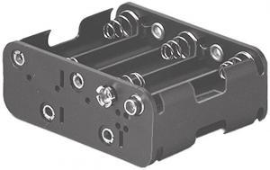 Portapila per 10  Stilo  Tipo AA  59x76x30 mm   attacco con clips