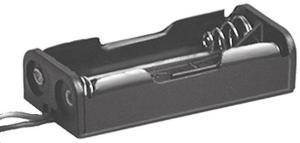 Portapila per 2 Ministilo Tipo AAA  53x25x13 mm  attacco con filo