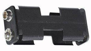 Portapila per 2 Stilo Tipo AA  57x27x16 mm attacco con clips