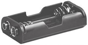 Portapila per 2 Stilo Tipo AA  58x31x15 mm  attacco con clips