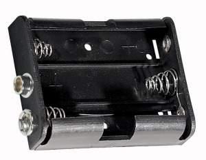 Portapila per 3 Stilo Tipo AA  58x49x17 mm  attacco con clips