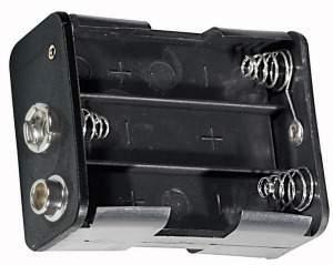 Portapila per 6 Stilo Tipo AA  58x45x29 mm attacco con clips