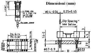 Zoccolo 32 Pin per C.I. p 2,54 mm doppia lamella D15,24