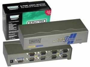 Distributore segnale video VGA/SVGA Splitter 8 OUT 1 IN 250 MHz