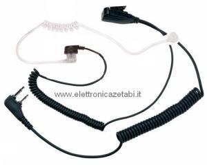 MA31-LK Microfono Auricolare doppia spina tubo acustico Kenwood
