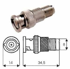 Adattatore presa mini UHF/spina BNC