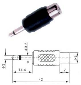 Adattatore spina mono 3.5 mm/presa RCA