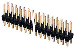 Barretta contatti doppia fila  40+40  poli M/M- P 2,54