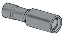 Capocorda rosso cilindrico 4 mm femmina preisolato