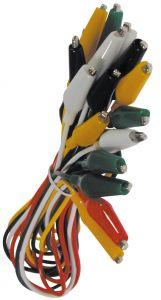 Confezione 10 coccodrilli colorati con filo   45 cm