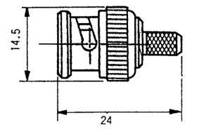 Connettore spina BNC Crimpare Maschio X RG 174