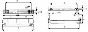 Connettore femmina 50 poli tipo IDC perforazione di isolante