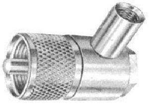 Connettore PL 259 maschio 90 ° x RG 58
