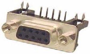 Connettore serie D 9 poli  Femmina    C.S. 90°