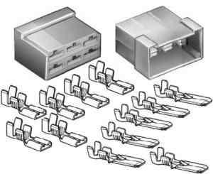 Kit connettori per faston 6 poli M-F