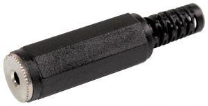 Presa Jack volante mono 3,5 mm plastica c/guidacavo