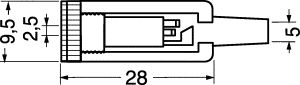 Presa Jack volante stereo 2,5 mm plastica c/guidacavo