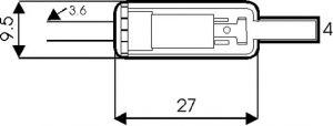 Presa Jack volante stereo 3,5 mm plastica c/guidacavo