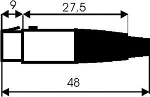 Presa volante 3 poli tipo mini XLR