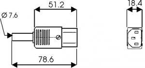 Presa volante 3 poli tipo VDE 10A-250V