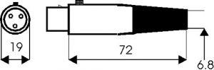 Presa volante 3 poli tipo XLR