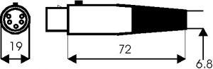 Presa volante 5 poli tipo XLR