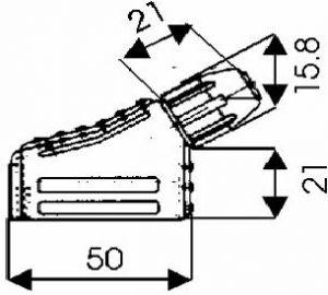 Presa volante tipo SCART 21P