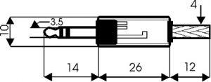 Spina Jack volante stereo 3,5 mm plastica c/guidacavo
