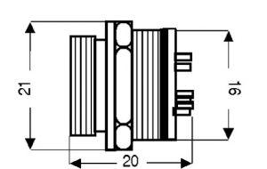 Spina microfonica pannello 6 poli
