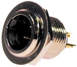 Spina pannello 3 poli tipo mini XLR