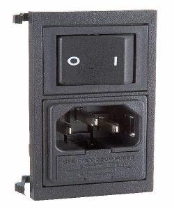 Spina pannello 3 poli tipo VDE con interr/doppio fusibile BZ15010