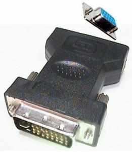 Adattatore DVI-I Maschio 24+5 // femmina VGA 15 poli