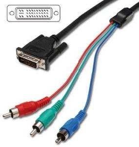 Cavetto DVI-I(24+5) 3x RCA RGB 1,5 mt