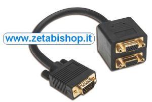 Cavetto splitter VGA Y HD15-2xHD15 CM 20