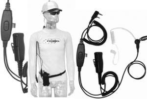 Microfono Auricolare PJD 2302 doppia spina tubo acustico Zodiac  K1-K2 rinforzato