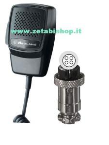 Microfono CB Midland ALAN 100 Plus B-M10-MZERO-Alan 199 4 poli