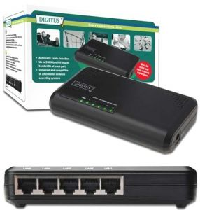 Switch Hub Ethernet 10/100 5 porte RJ45