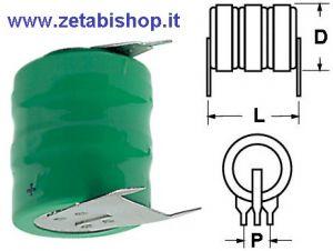Accumulatore NI-MH 3.6 volt 250 mah C.S.
