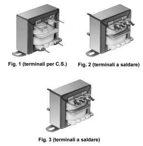 Trasformatore di alimentazione  220Vca 12+12  Volt  5 VA