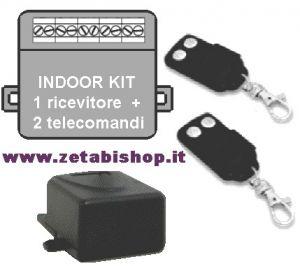 Kit radiocomando da interno TX-RX 433,92  2 ch