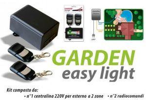 Kit radiocomando 2 canali da esterno 220 volt 2 telecomandi Garden