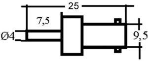 Connettore BNC femmina volante x RG 174 crimp.