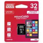 32 GB Memory Card MICRO SDHC CLASS10+adatt.