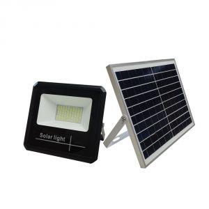 Faro Led 10 watt con pannello solare e telecomando