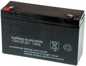 Accumulatore Piombo  6 Volt 12 A MKC