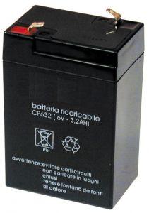 Accumulatore Piombo  6 Volt 3.2 A MKC Verticale
