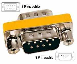Adattatore 9 poli Maschio /9  poli Maschio