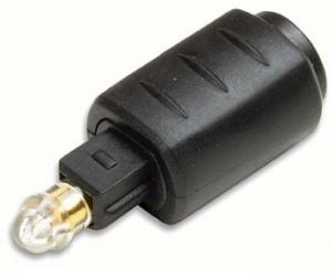 Adattatore Presa  3.5 mm fibra ottica/Spina Toslink
