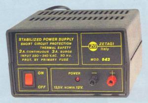 Alimentatore Stabilizzato ZG Modello 143 13.8 Volt 3 A  Fisso