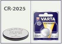 Batteria bottone Litio 3 Volt CR2025